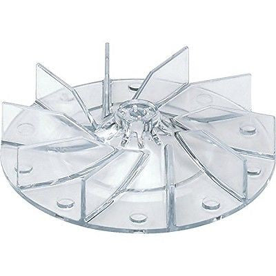 High-Profile, Clear Plastic Vacuum Fan for Eureka, Electrolux, Sanitaire and Perfect Vacuums, replaces 12988