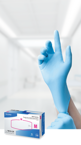 Tronex 9010 Series Nitrile Chemo-Rated, Powder-Free, Fully Textured Examination Gloves