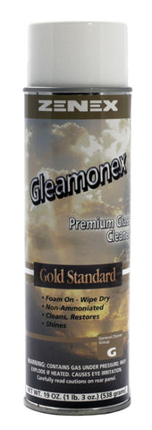 Zenex Gleamonex Premium Glass Cleaner, 19oz Aerosol Can