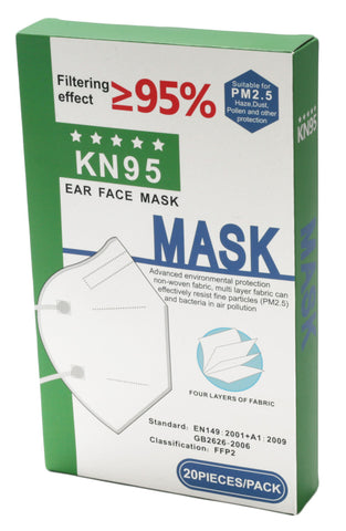 KN95 Face Mask, Box of 20