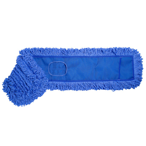 "ABCO Products 5""x36"" Blue Microfiber Looped Dust Mop"