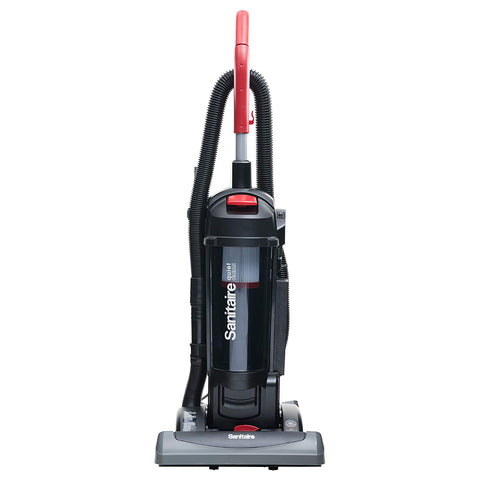 "Sanitaire FORCE QuietClean Commercial Upright Vacuum SC5845, Bagless, 3.5qt, 15"" Cleaning Path"