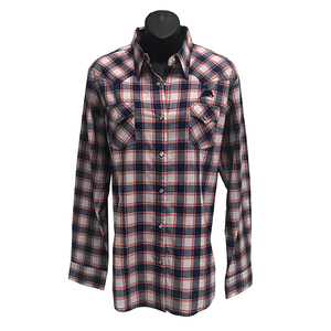 Ladies Wrangler Plaid Woven Shirt