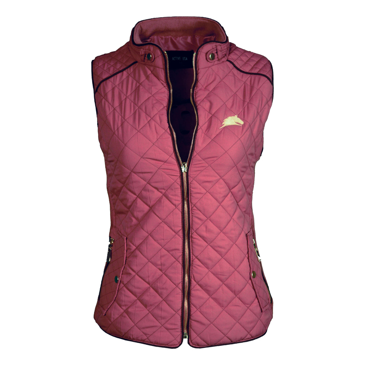 Suede Contrast Quilted Vest