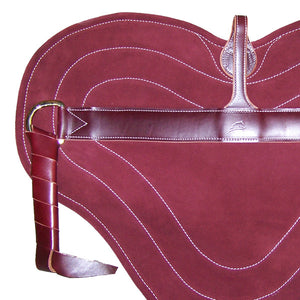Bareback Pad Burgandy for Natural Horse Riding