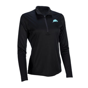 "Ladies ""Principles"" 1/4 Zip Pullover Black"