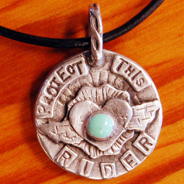 "Pendant ""Protect This Rider"""