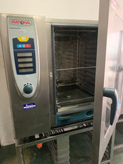 APS047 RATIONAL SCC102 SELF COOKING CENTRE SELF CLEANING 10 TRAYS COMMERCIAL COMBI OVEN WITH STAND AND WARRANTY - Washpro