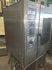 APS050 RATIONAL CPC 101 SELF CLEANING 10 TRAY COMMERCIAL COMBI OVEN WITH STAND AND WARRANTY - Washpro
