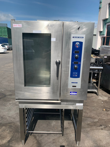 APS351 BLUESEAL AC SERIES 10 TRAY COMMERCIAL COMBI OVEN WITH STAND AND WARRANRY - Washpro