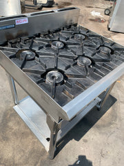 APS241 BLUE SEAL NATURAL GAS  COMMERCIAL  6 BURNER WITH STAND AND WARRANTY IN EXCELLENT CONDITION - Washpro