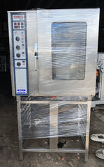 APS406 RATIONAL COMBI DAMPFER CENTER 10 TRAY ELECTRIC COMBI OVEN WITH STAND AND WARRANTY