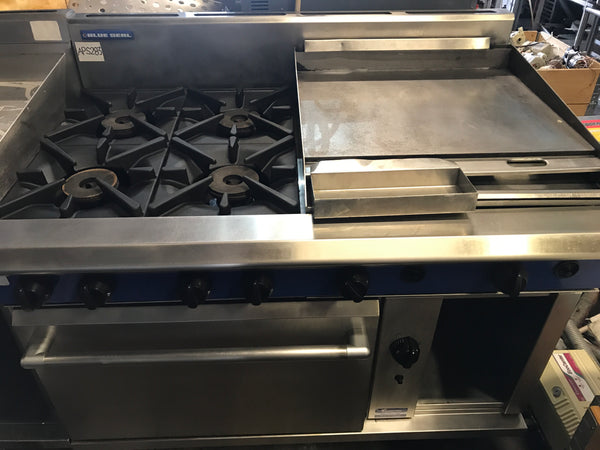 APS283 Blue Seal 4 Gas Burners with oven and Hot plate - Washpro