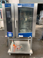 APS080 ELECTROLUX AOS101ETA1 AIR-O-STEAM 3 PHASE 10 TRAY COMMERCIAL COMBINOVEN WITH STAND AND WARRANTY - Washpro