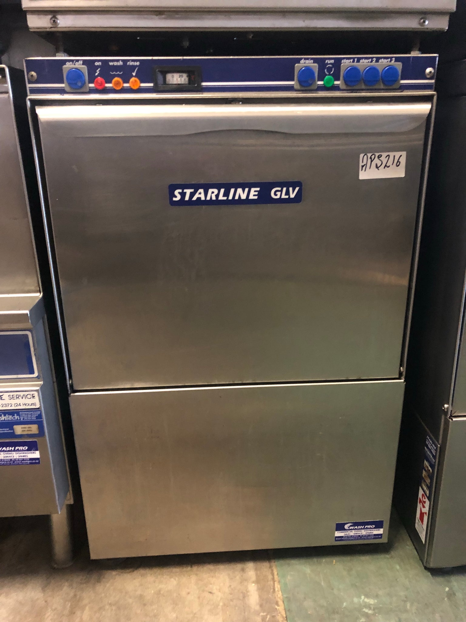 APS216 starline GLV Undercounter Commercial dishwasher with warranty free freight - Washpro
