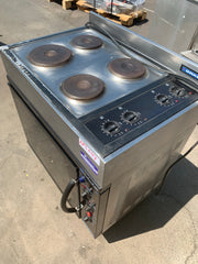 APS049 MOFFAT BAKBAR TURBOFAN E31, 2 TRAY ELECTRIC OVEN WITH 4 HOT PLATE BURNER WITH WARRANTY - Washpro