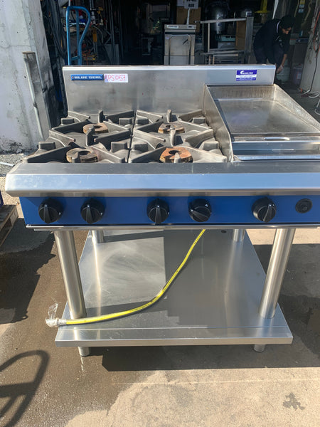 APS057 BLUE SEAL NATURAL GAS AND LPG ONE HOT PLATE 4 BURNER COMMERCIAL BURNER WITH STAND AND WARRANTY - Washpro