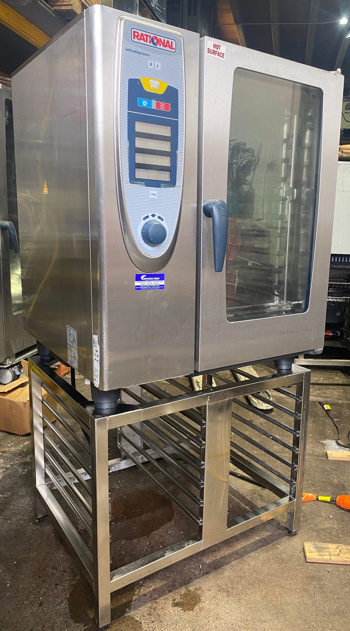APS463 Rational SCC101E Electric 10 tray Self  Cleaning Combi oven with stand and warranty