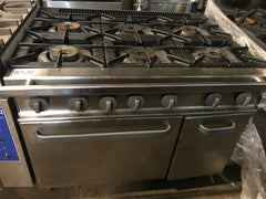 APS287 Fagor 6 Burner Commercial Gas Stove with statice oven - Washpro