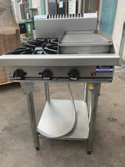 APS172 Waldorf NATURAL GAS 4 COMMERCIAL BURNER, 1 HOTPLATE WITH STAND AND WARRANTY - Washpro