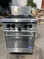 APS240 SUNFIRE NATURAL GAS 4 BURNER WITH STATIC OVEN WITH WARRANTY IN EXCELLENT CONDITION - Washpro