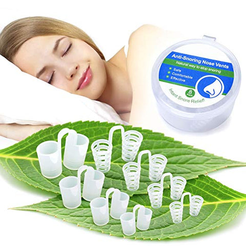 BreoLife Anti Snoring Devices - Snoring Solution - Snore Stopper Set - Anti Snoring Solutions - Breathe Better - Anti Snoring Nose Vents - 8 Green Packs