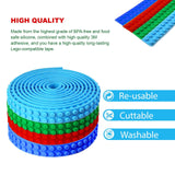 Basic Building Block Tape 100cm (3.2ft) Flexible - Cuttable - SELF-Adhesive - Reusable - Residue-Free - Silicone - Compatible with Lego - Endless Creativity - Also for Parents