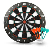 ActionDart - Soft Tip Safety Darts and Dart Board - Great Games for Kids - Leisure Sport for Office (Set)