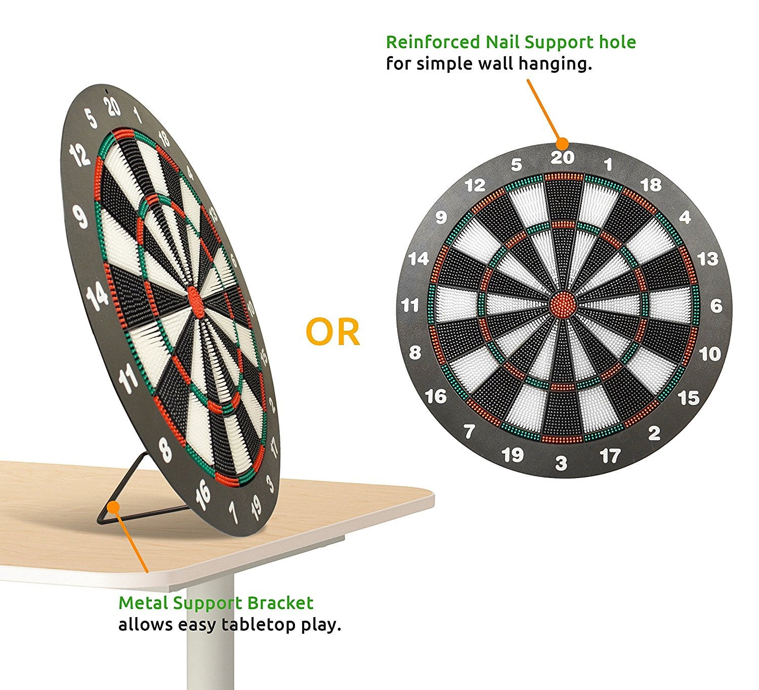 ActionDart   Soft Tip Safety Darts And Dart Board   Great Games For Kids    Leisure Sport For Office (Set)