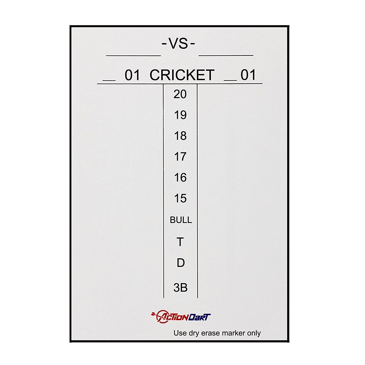 Actiondart Magnetic Dry Erase Scoreboard Cricket And 01 Dart Games
