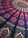 Queen Size Purple Hippie Mandala