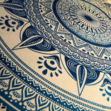 Queen Size Blue & White Mandala