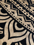 Queen Size Black & Gold Metallic Mandala