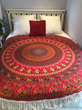 Roundie Red Hippie Mandala