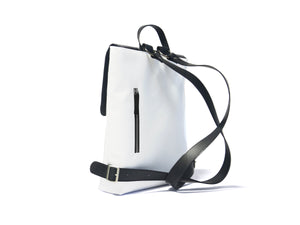 Urban backpack with recycled materials