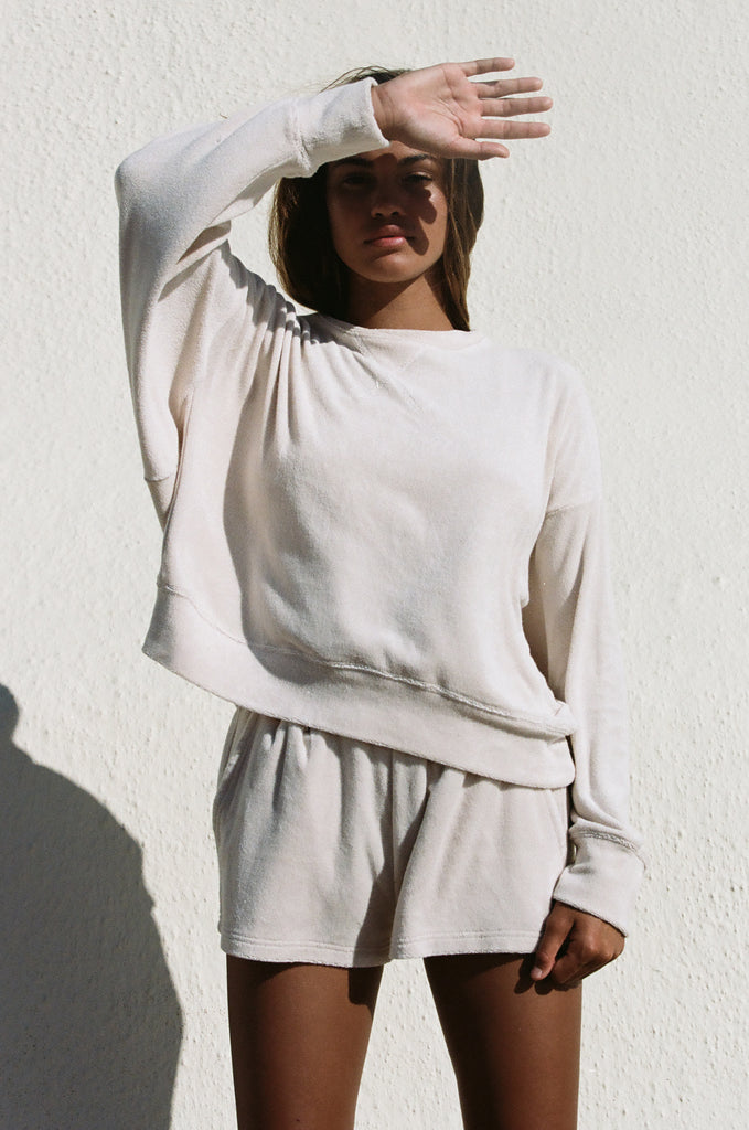 Augie Oversized Jumper (Sand Dollar)