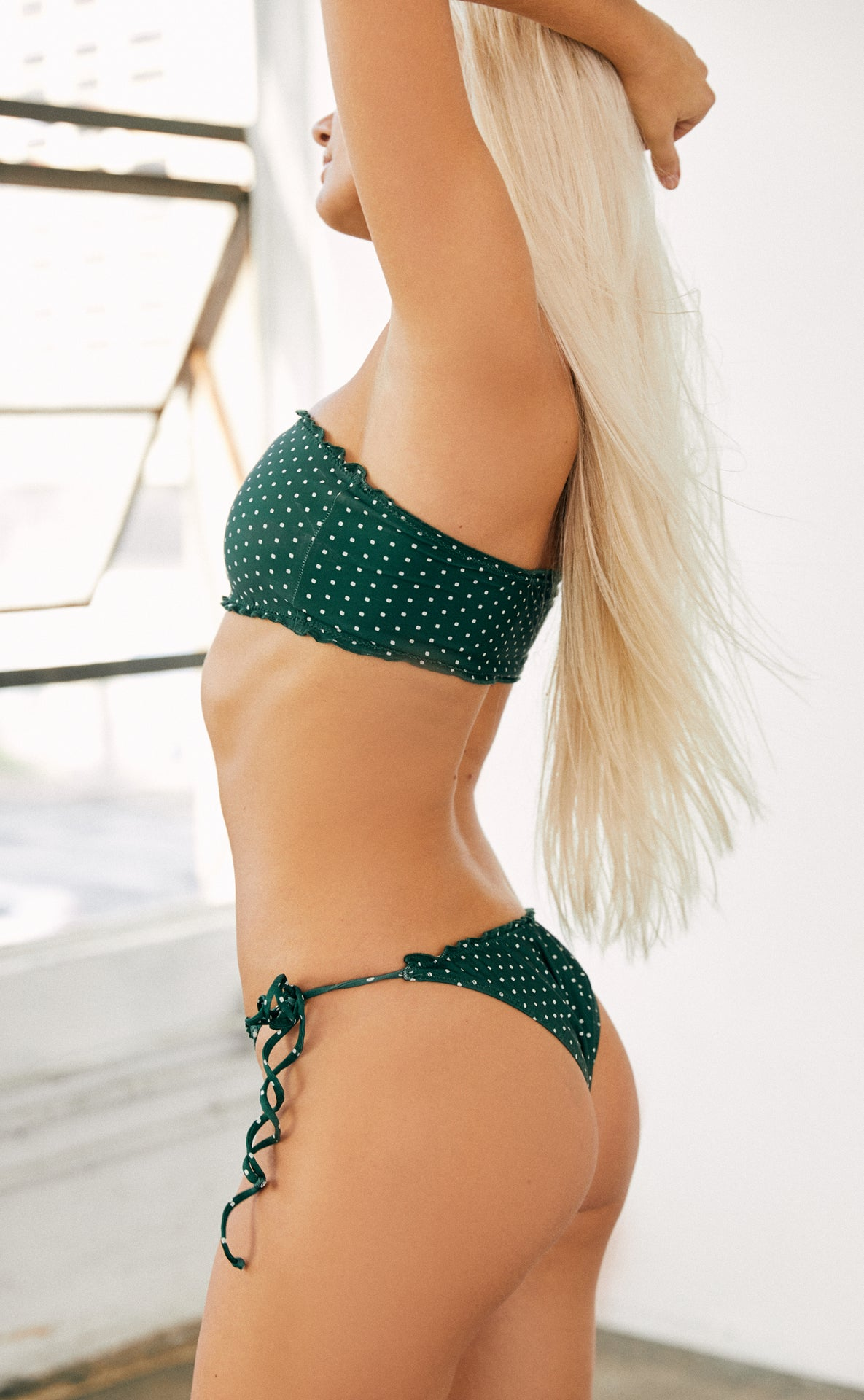 Leia Bottom (Herbal Daisy Dot) *FINAL SALE*