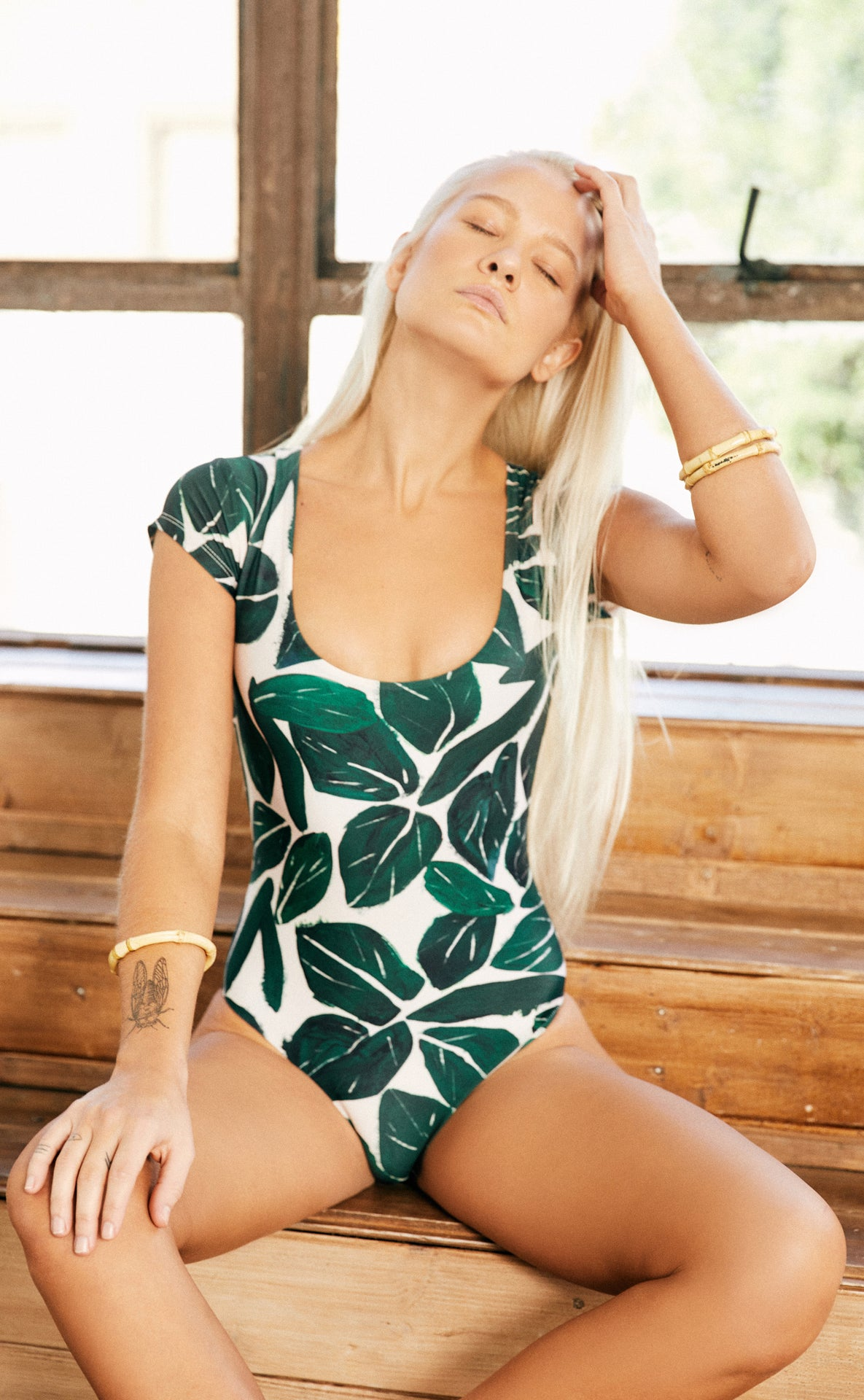 Nava One Piece (Mele Leaf) *FINAL SALE*