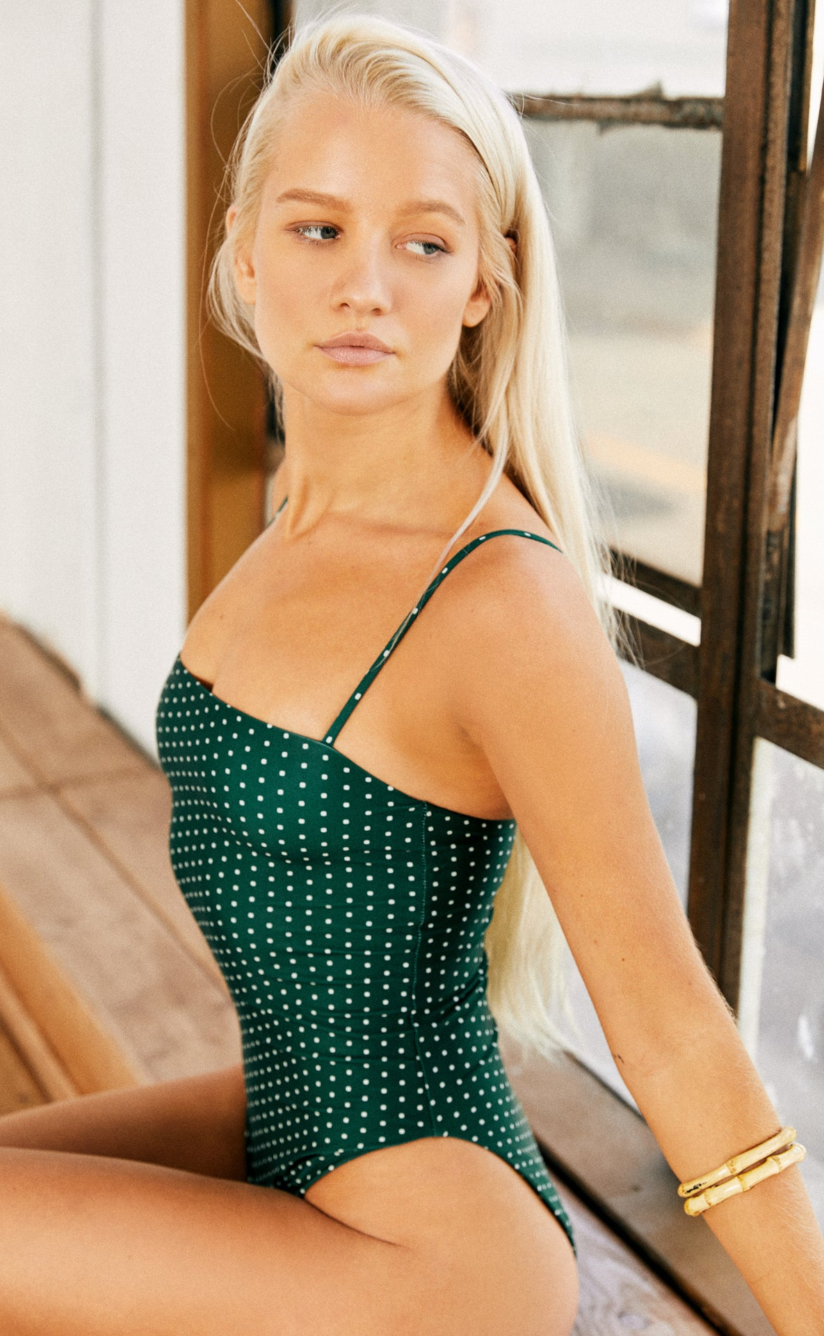 Shanti One Piece (Herbal Daisy Dot)