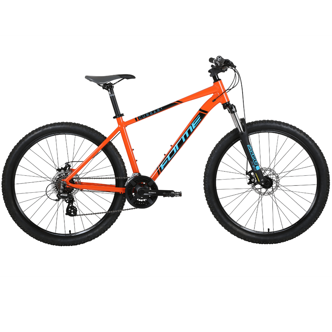 Forme Curbar 4 Mountain Bike Orange/Blue 17.5
