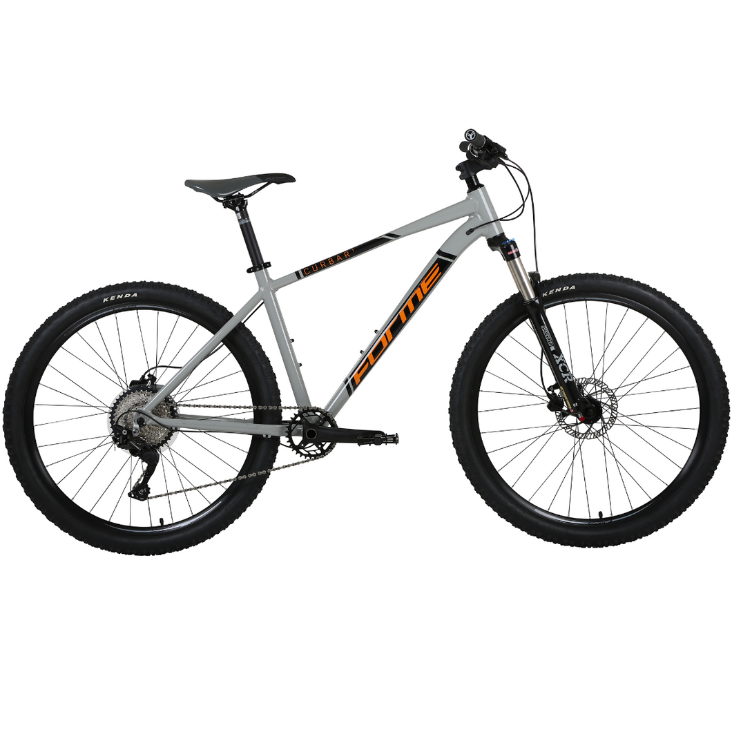 Forme Curbar 1 Mountain Bike Grey/Orange 17.5