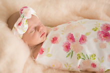 Hunny Blossom | Snuggle Swaddle + Topknot Set