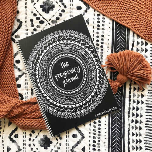 Pregnancy Journal | Boho Monochrome