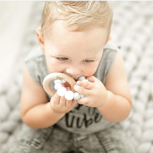 DUO Silicone + Beech Wood Teether