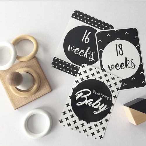 Monochrome Pregnancy | Milestones and Moments Cards