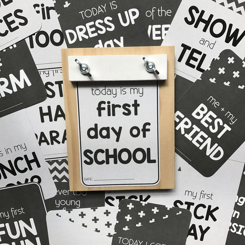 School Milestone Cards | First Year of School