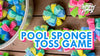 POOL SPONGE TOSS GAME | POOL ACTIVITIES FOR KIDS