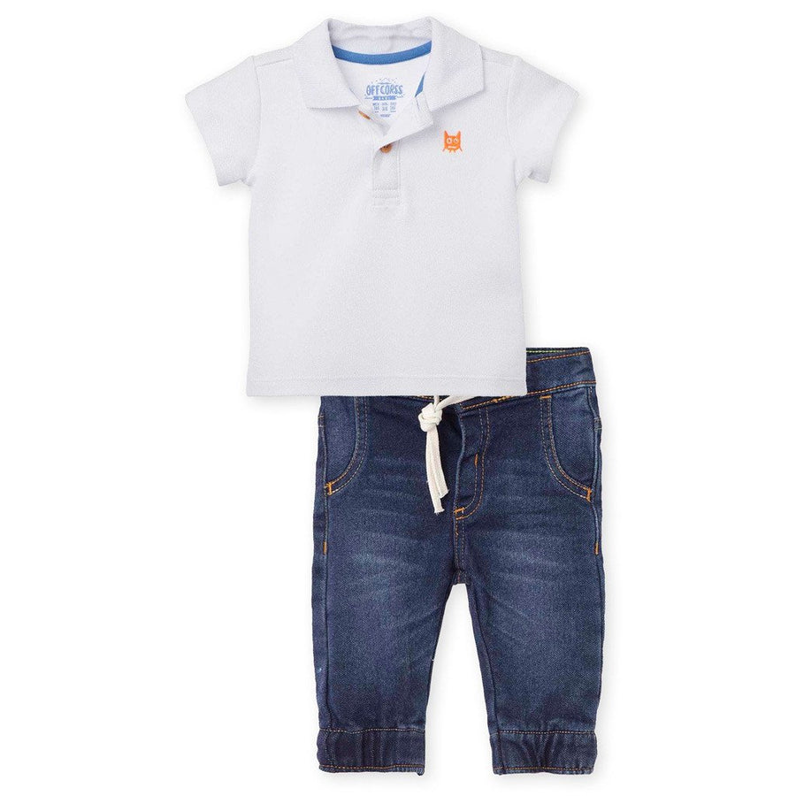 Polo Outfits Jeans & Pique Polo Shirt