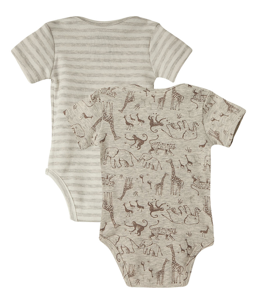 Short Sleeves Baby Boy Onesies 2 Pack