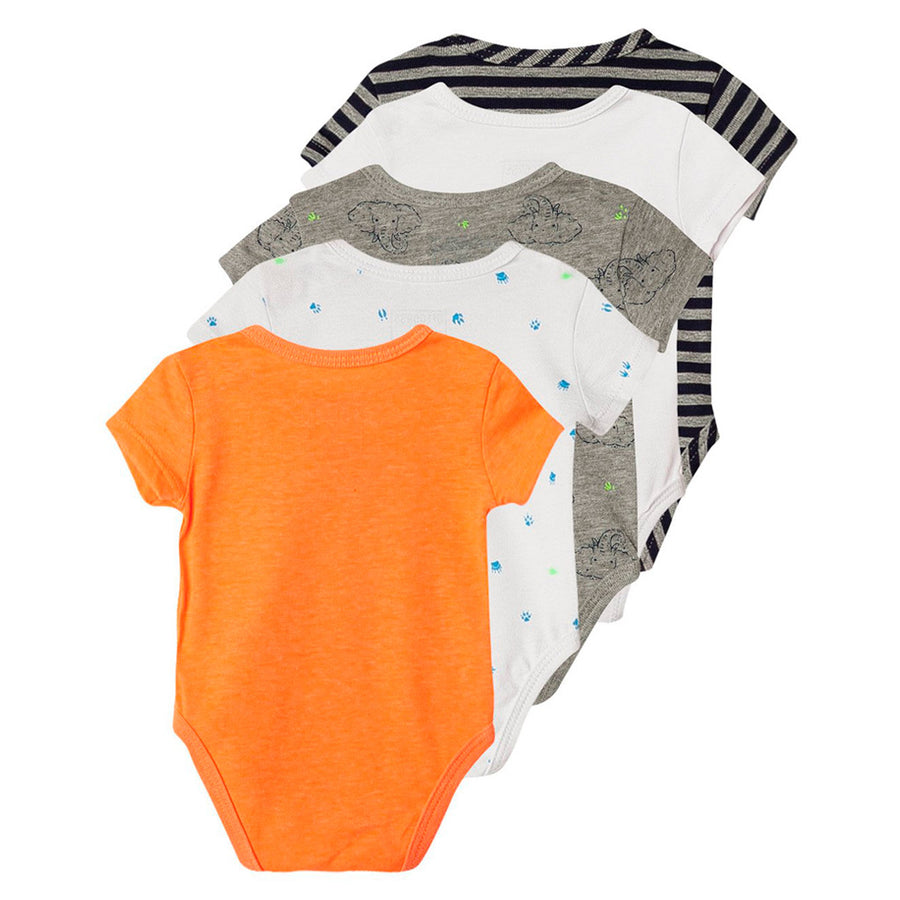 Short Sleeves baby boy Onesies 5 Pack